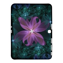 Pink and Turquoise Wedding Cremon Fractal Flowers Samsung Galaxy Tab 4 (10.1 ) Hardshell Case