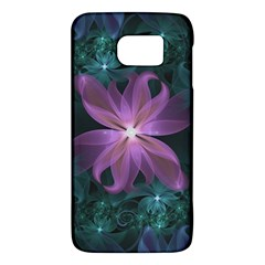 Pink and Turquoise Wedding Cremon Fractal Flowers Galaxy S6