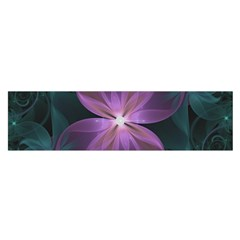 Pink and Turquoise Wedding Cremon Fractal Flowers Satin Scarf (Oblong)
