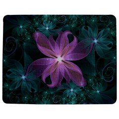 Pink and Turquoise Wedding Cremon Fractal Flowers Jigsaw Puzzle Photo Stand (Rectangular)