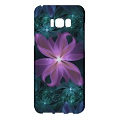 Pink And Turquoise Wedding Cremon Fractal Flowers Samsung Galaxy S8 Plus Hardshell Case