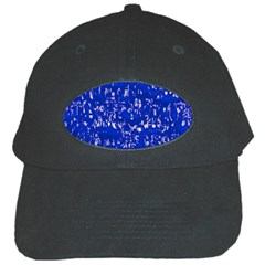 Glossy Abstract Blue Black Cap