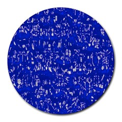 Glossy Abstract Blue Round Mousepads