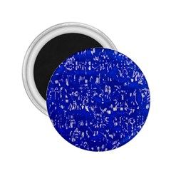 Glossy Abstract Blue 2.25  Magnets