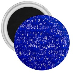 Glossy Abstract Blue 3  Magnets
