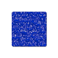 Glossy Abstract Blue Square Magnet