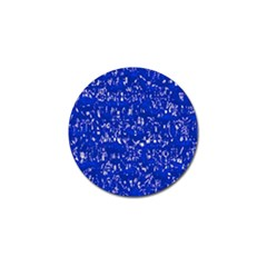 Glossy Abstract Blue Golf Ball Marker (4 pack)