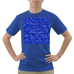 Glossy Abstract Blue Dark T-Shirt
