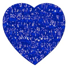 Glossy Abstract Blue Jigsaw Puzzle (Heart)