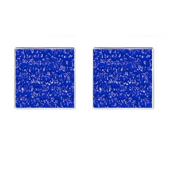 Glossy Abstract Blue Cufflinks (Square)