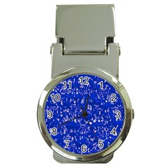 Glossy Abstract Blue Money Clip Watches