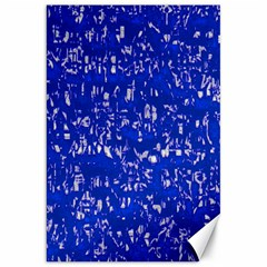 Glossy Abstract Blue Canvas 20  x 30
