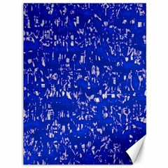 Glossy Abstract Blue Canvas 36  x 48