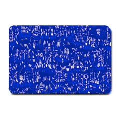 Glossy Abstract Blue Small Doormat