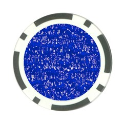Glossy Abstract Blue Poker Chip Card Guard