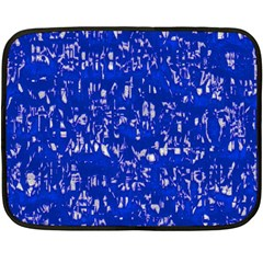Glossy Abstract Blue Double Sided Fleece Blanket (Mini)