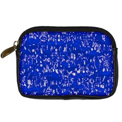Glossy Abstract Blue Digital Camera Cases