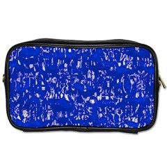Glossy Abstract Blue Toiletries Bags