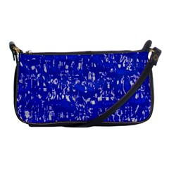 Glossy Abstract Blue Shoulder Clutch Bags