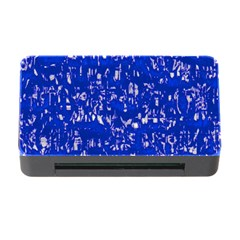 Glossy Abstract Blue Memory Card Reader with CF