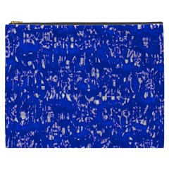 Glossy Abstract Blue Cosmetic Bag (XXXL)