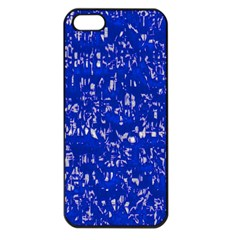 Glossy Abstract Blue Apple iPhone 5 Seamless Case (Black)