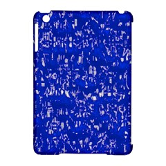Glossy Abstract Blue Apple iPad Mini Hardshell Case (Compatible with Smart Cover)