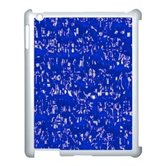Glossy Abstract Blue Apple iPad 3/4 Case (White)