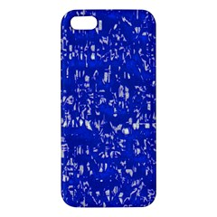 Glossy Abstract Blue Apple iPhone 5 Premium Hardshell Case