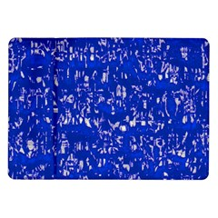 Glossy Abstract Blue Samsung Galaxy Tab 10.1  P7500 Flip Case