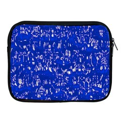 Glossy Abstract Blue Apple iPad 2/3/4 Zipper Cases