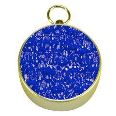 Glossy Abstract Blue Gold Compasses
