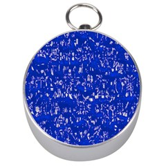 Glossy Abstract Blue Silver Compasses