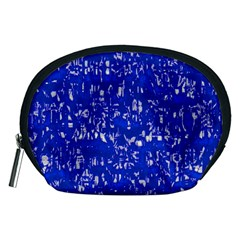Glossy Abstract Blue Accessory Pouches (medium)
