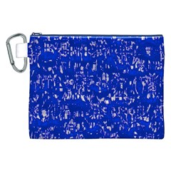 Glossy Abstract Blue Canvas Cosmetic Bag (XXL)