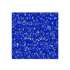 Glossy Abstract Blue Satin Bandana Scarf