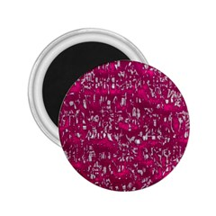 Glossy Abstract Pink 2.25  Magnets