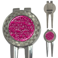 Glossy Abstract Pink 3-in-1 Golf Divots