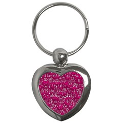Glossy Abstract Pink Key Chains (Heart)