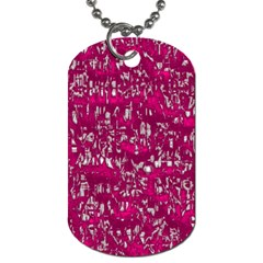 Glossy Abstract Pink Dog Tag (Two Sides)