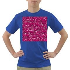 Glossy Abstract Pink Dark T-Shirt
