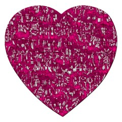 Glossy Abstract Pink Jigsaw Puzzle (Heart)