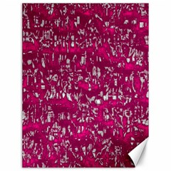 Glossy Abstract Pink Canvas 12  x 16