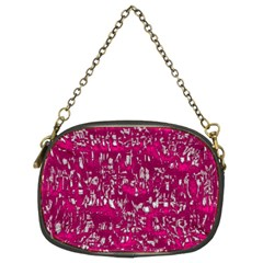 Glossy Abstract Pink Chain Purses (two Sides)