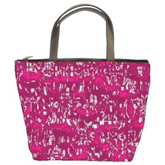 Glossy Abstract Pink Bucket Bags