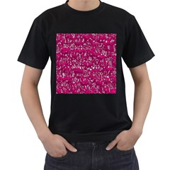 Glossy Abstract Pink Men s T-Shirt (Black)