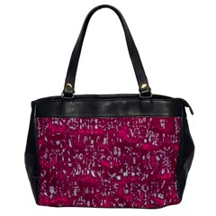 Glossy Abstract Pink Office Handbags