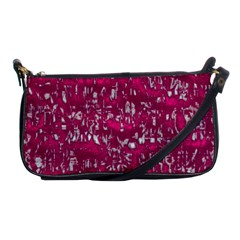 Glossy Abstract Pink Shoulder Clutch Bags