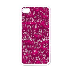 Glossy Abstract Pink Apple iPhone 4 Case (White)