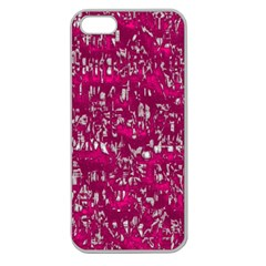 Glossy Abstract Pink Apple Seamless iPhone 5 Case (Clear)